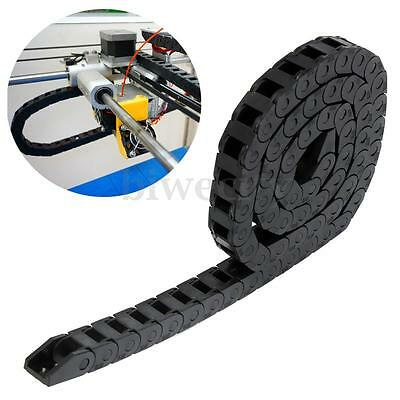 1M Black Long Nylon Cable Drag Chain Wire Carrier for 3D Printer Tools 1000mm