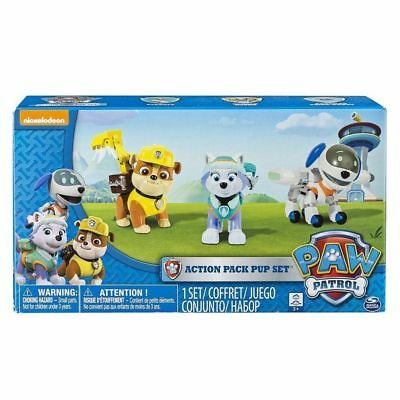 Paw Patrol Action Pup 3Pk, Everest, Robodog, Rubble