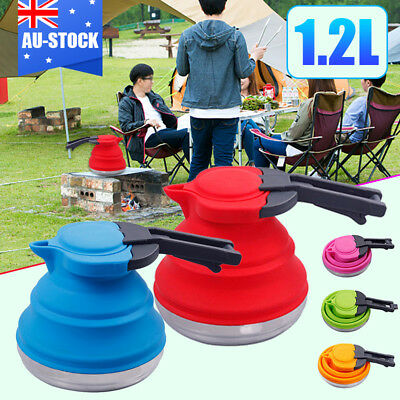 1.2L Silicone Folding Pot Outdoor Travel Foldable Kettle Gas Stove Hob Available