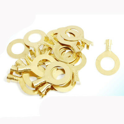 20 Pcs 5mm Dia. Wire Non Insulated Ring Crimp Terminal Connectors 10mm WS