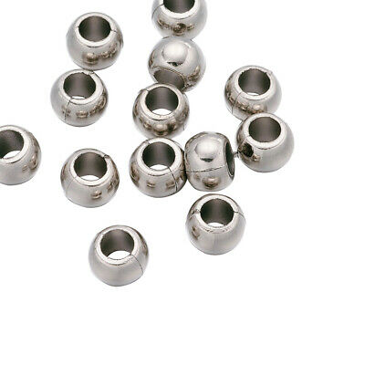Pony Beads 10mm CCB Silver Plated Acrylic Donut Spacer Beads 4 Snake Bracelet