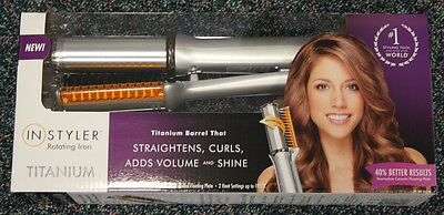 InStyler Rotating Iron 32mm Titanum Barrel *straightens*curls*adds volume&shine
