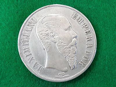 Mexico - Silver - 1 Peso - Year 1867