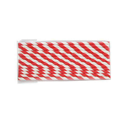 50x STRIPED PAPER DRINKING STRAWS-FOR PARTY CELEBRATION TABLE DECORATIONS