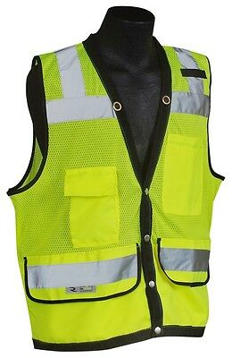 Radians SV59-2ZGD Class 2 Heavy Duty Surveyor Safety Vest Lime Green S-3XL