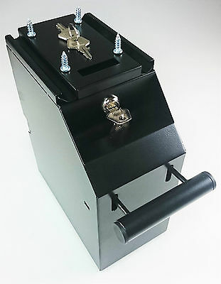 Under Counter POS Money Safe Box Cash Cache Bank Note Bill Security Lock Draw