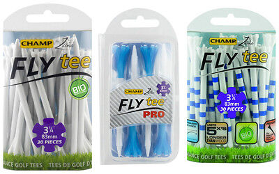 "Champ 2016 Assorted Fly Golf Tees (83mm) 3 1/4"" Variety Colours"