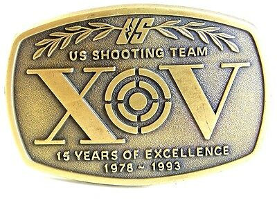 Vintage 15 Years 1978 - 1993 US Shooting Team Belt Buckle