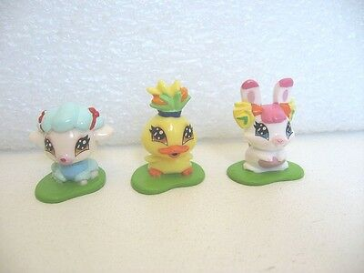 Lot De 3 Figurines Animaux Winx Lapin Milly Poussin Chicko Mouton Belle F41
