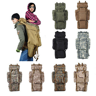 100L Super Capacity Unisex Outdoor Mountaineering Hiking Tactics Backpack New