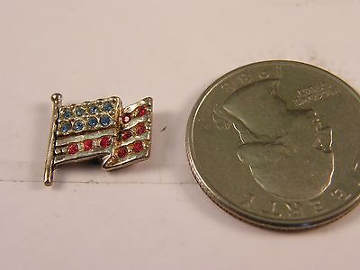 925 Sterling Silver United States Flag Pin Patriotic