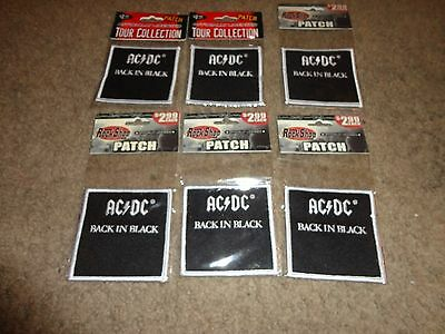 AC/DC BACK IN BLACK PATCH set of 6