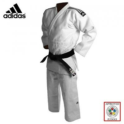 Adidas Champion 2 JUDO Gi 750g White Premium Slim Fit IJF Approved Suit Uniform