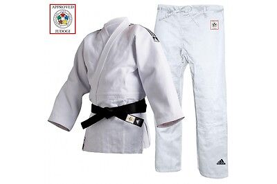 Adidas Champion II Judo Gi Uniform White Mens Womens IJF Approved Suit Adults