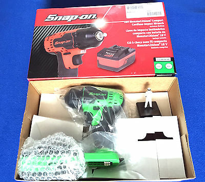 "Snap On 18v 3/8"" Monster Lithium Cordless IMPACT Wrench Extreme Green CTEU8810"
