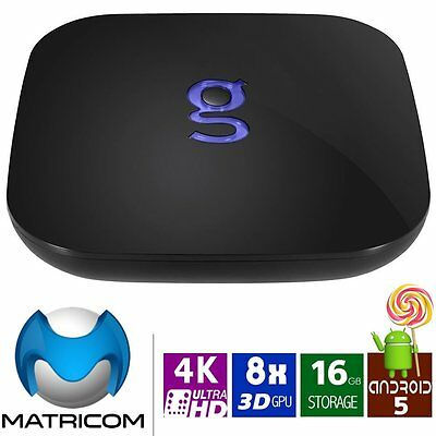 Matricom G-Box Q Kodi Android 5.1 TV Box Quad Octa Core Gbox 4k 2GB 16GB Loaded