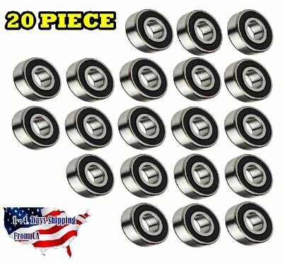 6205-2RS Ball Bearing Dual Sided Rubber Sealed Deep Groove (20PCS)