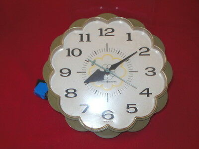 1P Vintage GE General Electric Model 2150 Retro Kitchen WALL Clock Working!