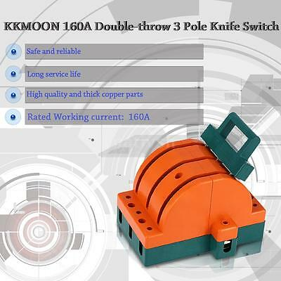 160A 3 Pole Double Throw Knife Disconnect Switch Copper for Industria/Home H6E7
