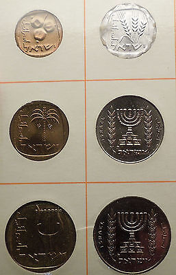 1966 ISRAEL Proof-Like Issues Tel Aviv Mint 6 COINs Set Collection NICE! i56992