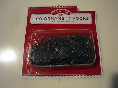 New 200PK Christmas Ornament Hooks Tree Wedding Garden Hangers Color Silver Gree