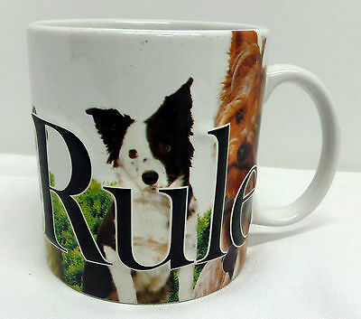Dogs Rule Large Coffee Mug by Americaware