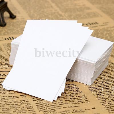 100/200/300X Business Blank Card Message Paper Word Label Tags Name Card 90x55mm