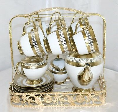 New 15 Piece Tea/Coffee Set with Serving Stand 24359