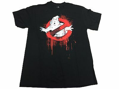 Ghostbusters Splatter Logo Who You Gonna Call Movie Men's T Shirt