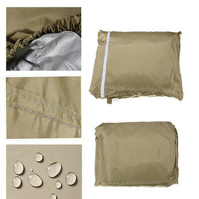 Golf cart 4 passenger storage cover for EZGO Club car and Yamaha Taupe