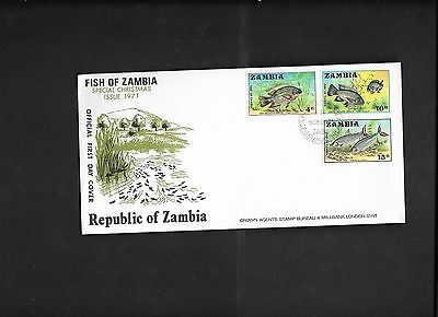 pk18946:First Day Cover - Zambia Fish 1971 Issue