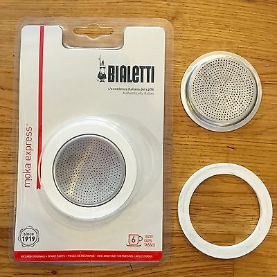 Bialetti Moka Express 6 Cup Seal Filter Kit Coffee Replacement Fiammetta