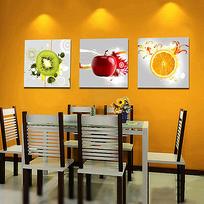 3 Pcs Wall Art Canvas Paintings Modern Fruit Picture Home Decor New Arrival