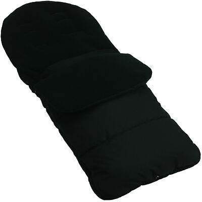Universal Footmuff Cosy Toes Fits All Pushchair / Buggy / Stroller Black Jack