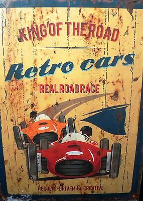 Holzbild - Retro Cars -40 cm x 30 cm - King of the Road