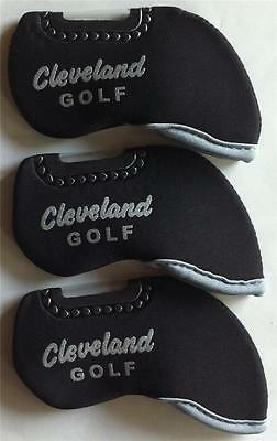 10 x Iron Head Covers - Suit Cleveland - New - Black