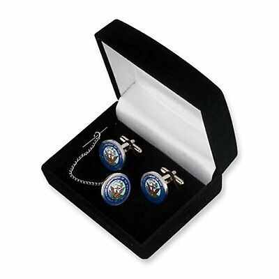 U.S. Navy Cuff Links and Tie Tack in Gift Box