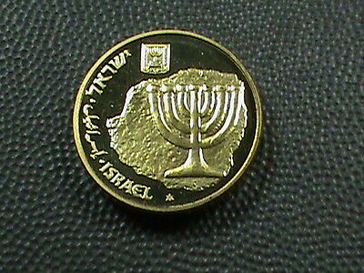 ISRAEL  10 Agorot  1986   PIEFORT  PROOF   $ 2.99 maximum shipping in USA