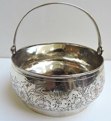 IMPERIAL RUSSIAN Silver Sugar Basket - Moscow .84  - 1882-1899