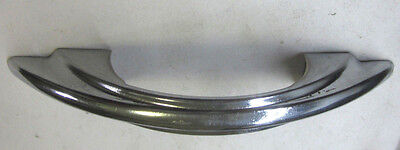 Vintage rare Art Deco super retro chrome drawer pull handle stair stepped sides