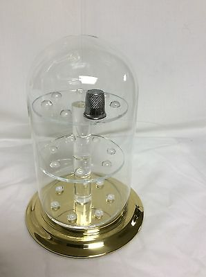 "21 Thimble Glass Dome with W/ Brass Base (no thimbles included) 4"" x 7"" #305tpbr"
