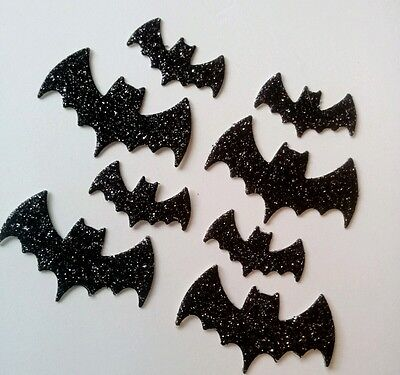 Halloween Diecut Sparkly Bats 10/25 Pcs Cardmaking Crafts Toppers Embellishments