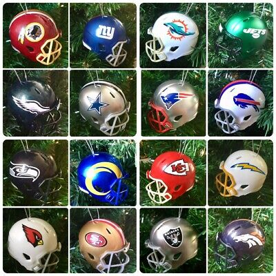 NFL Team Riddell Replica Mini Helmet Christmas Tree Decoration - ALL 32 TEAMS