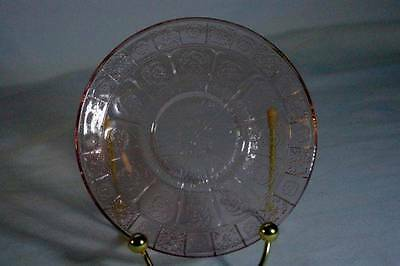 Jeanette Glass Circa 1937 Doric And Pansy Pink Pretty Polly Cup  Dinner Plate