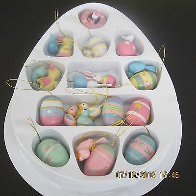1990's Easter ornaments set of 23 and original package