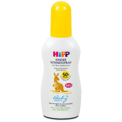 HiPP Baby Sunscreen with ORGANIC Almond Oil -SPF 50- Bottle- Made in Germany