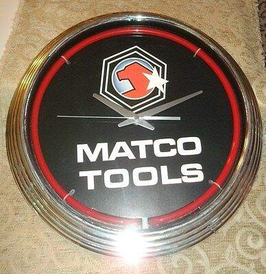Matco Tools Advertising Glass Shop Clock