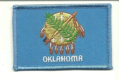 OKLAHOMA STATE FLAG  Embroidered Patch