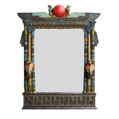 """Large 25"""" Tall Egyptian Architecture Dual Cobra Wall Mirror Plaque Home Decor"""