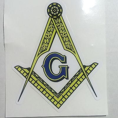 Masonic Exterior applied Decal 4""